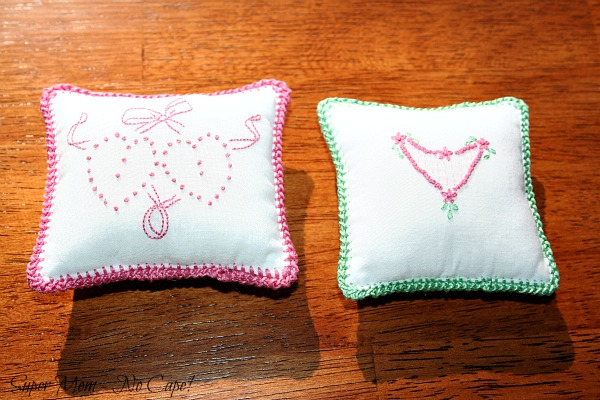 Embroidered Heart Sachets