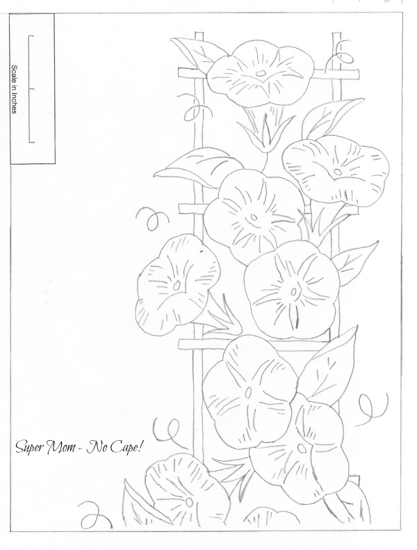 JPEG 82 Morning Glory Border Sheet 1