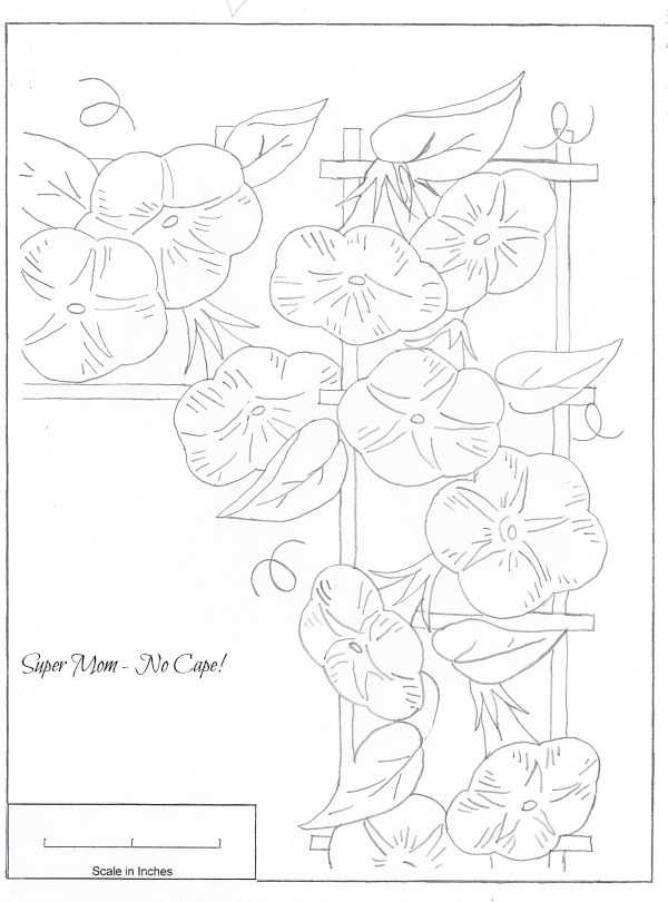 JPEG 82 Morning Glory Border Sheet 2