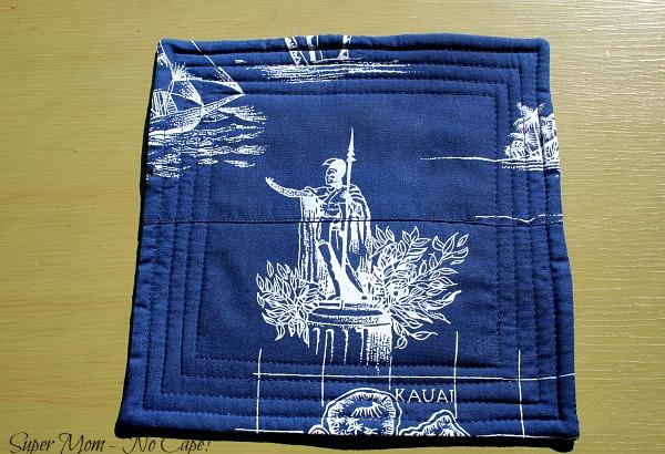 Front of Hawaiian Aloha Fabric mouse pad