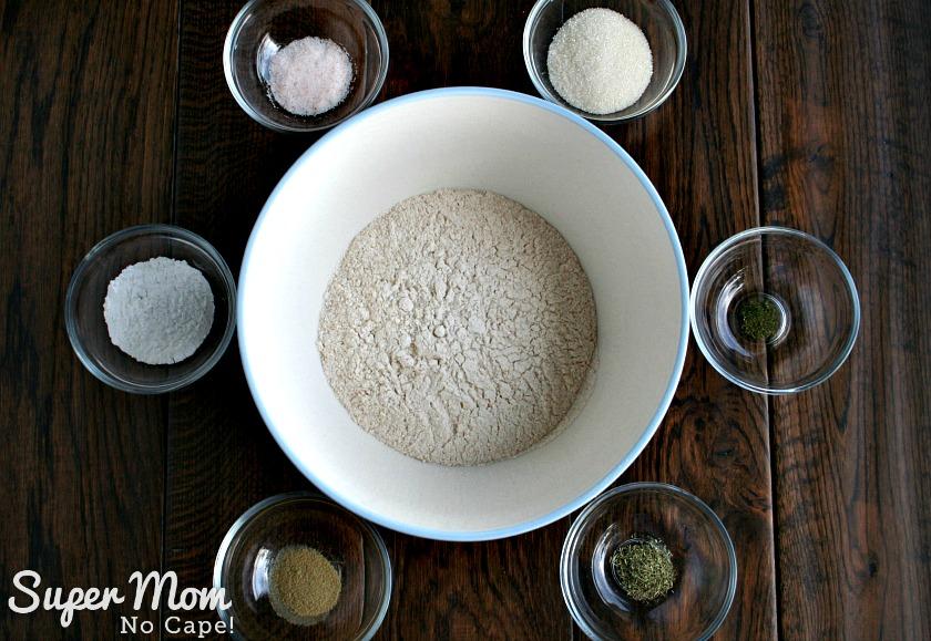 Herbed Beer Bread - Dry ingredients measured out