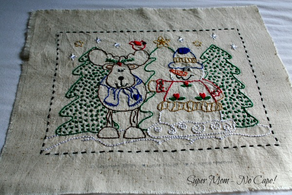 Snowman and Moose Embroidery