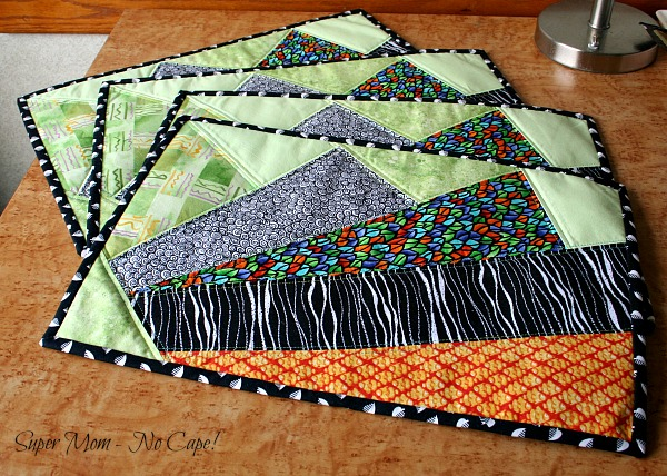 Photo of paper-pieced placemats