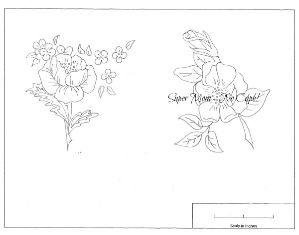 Vintage Workbasket Embroidery Pattern for old fashioned roses from page 81