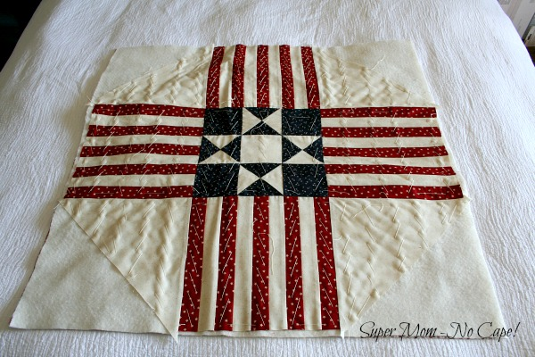 Old Glory Table Topper from a pattern by Creek Side Stitches