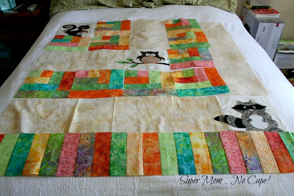 One Big Cabin baby quilt.
