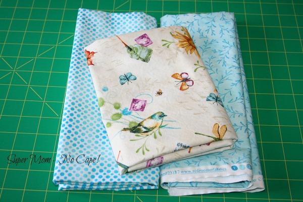 birds and butterflies fabric