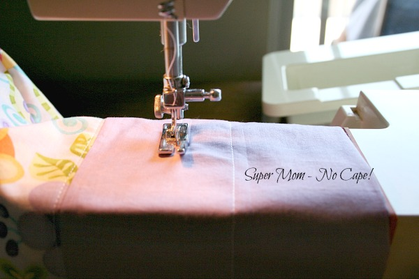 Stitch a second seam 3.5 inches from the top of bag