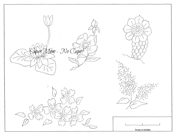 Larger flowers from Workbasket Pattern Page 79