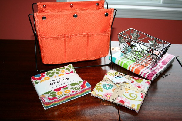 Stand up tote with charm packs