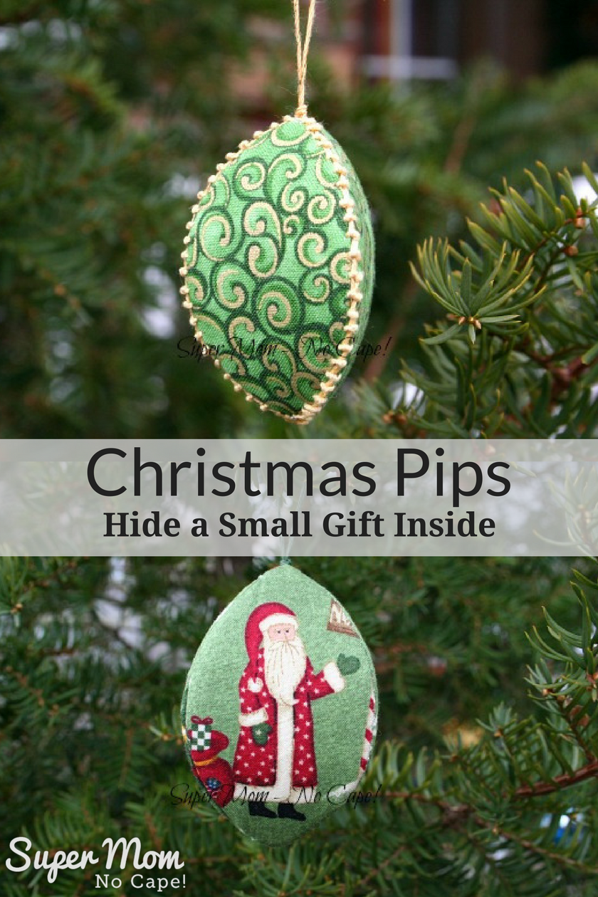 Christmas Pips - Hide a Small Gift Inside