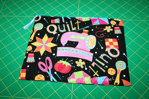 Zippered sewing pouch for Terry