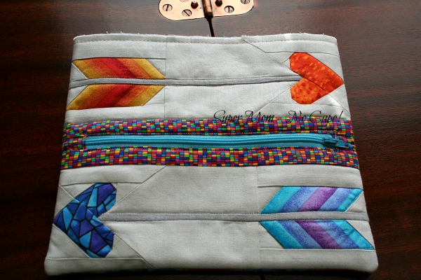 Love Struck Purse front and back sewn together