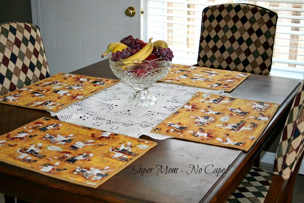 4 Chefs Placemats on the table