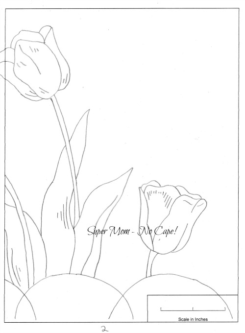 Workbasket Pattern Page 79 Large Tulip section 2b