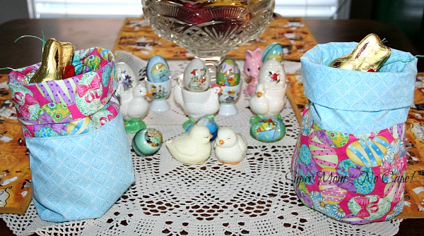 2 Drawstring Gift Bags for Easter Baskets