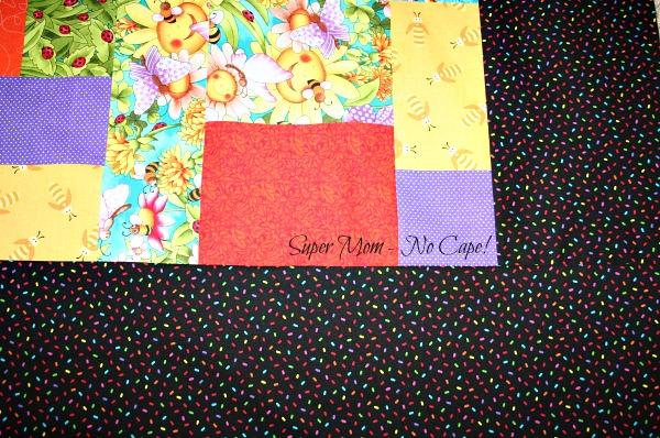 Border of the Smiling Sunflower quilt