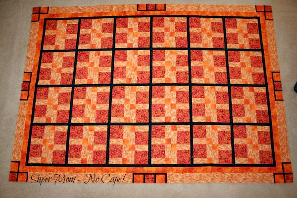 Disappearing Nine Patch finished quilt top