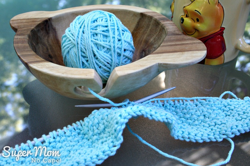 DIY Yarn Bowl is the perfect knitting accessory