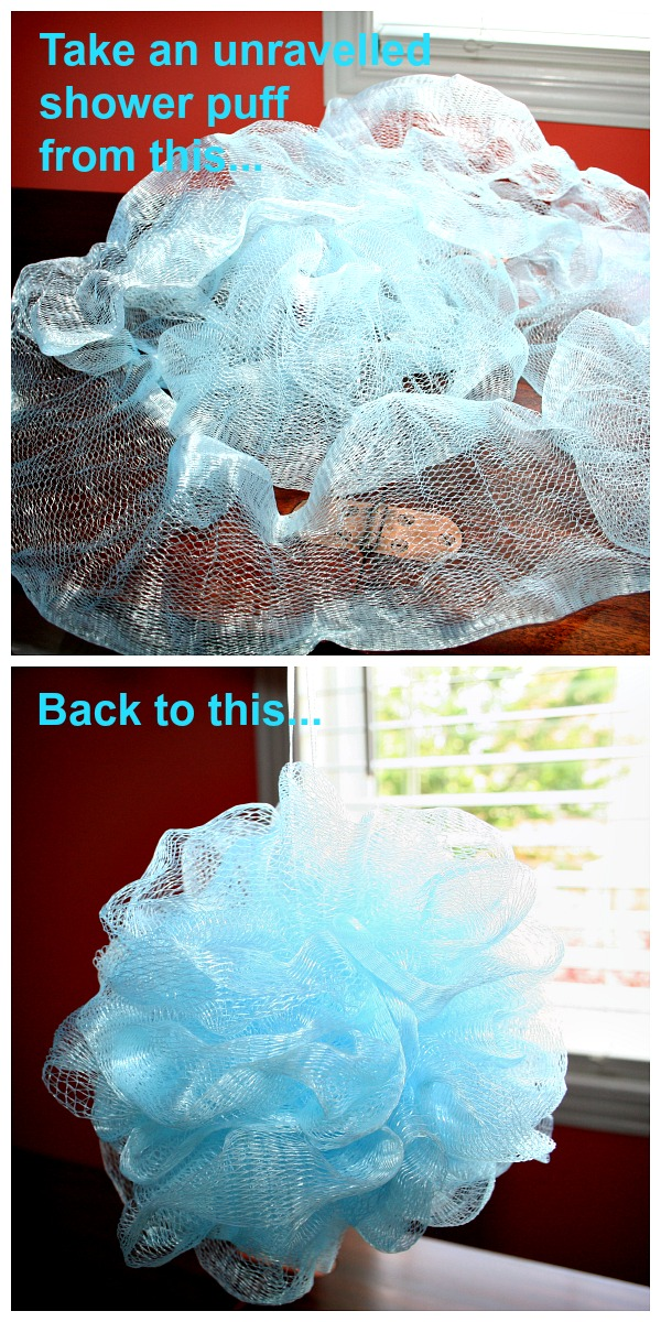 How to rescue an unravelled shower puff