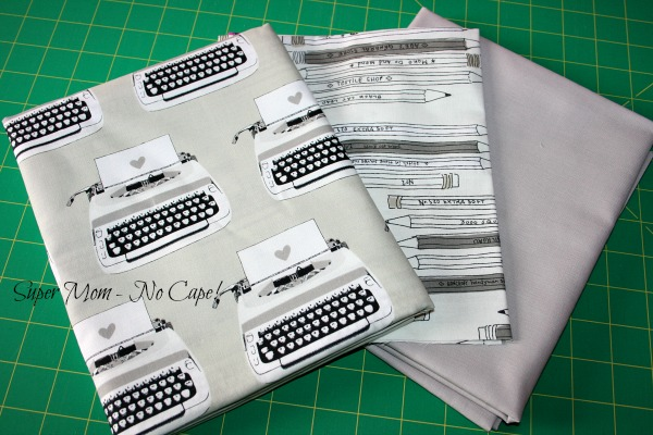Typewriter fabric that I'm going to turn into a writing tote and other accessories