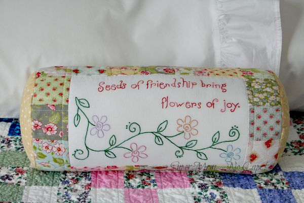 Seeds of Friendship Bolster Cover ready to greet company