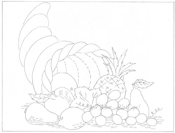 Vintage Workbasket pattern for a Cornucopia from page 65