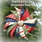 Prairie Point Star Ornament Tutorial