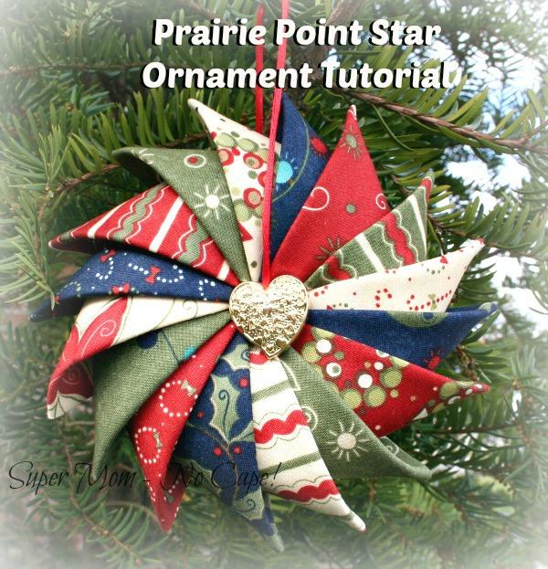 prairie point star ornament tutorial - super mom