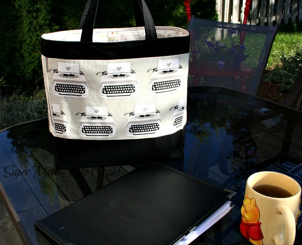 Writing Tote ready for next meeting