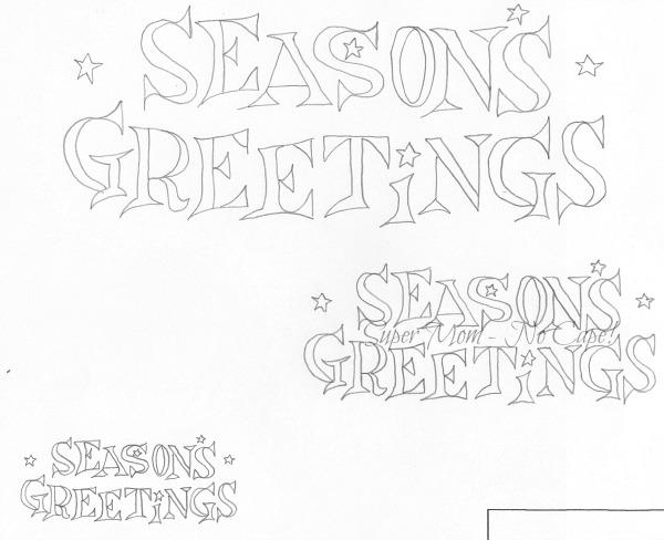 Vintage Workbasket embroider pattern - Seasons Greetings in 3 Sizes