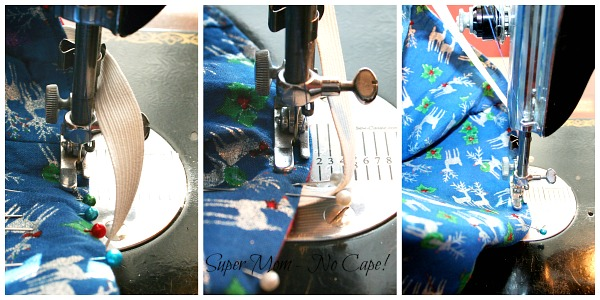 46. Photo collage of topstitching around the bottom