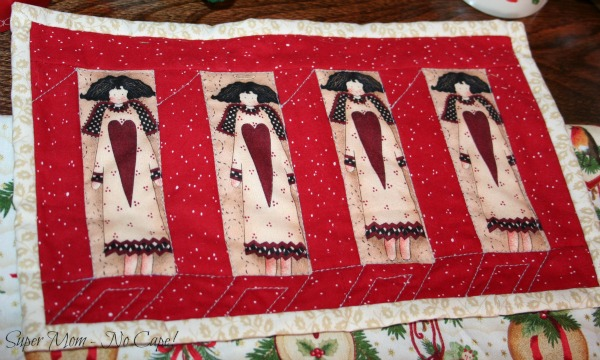 Close up of the Angel mini quilt
