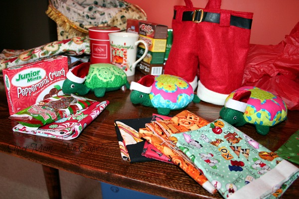 Fat quarters and candy