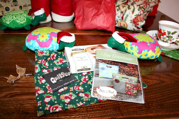 Gifts that were inside the little Santa gift bag