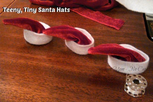 Teeny, Tiny Santa Hats