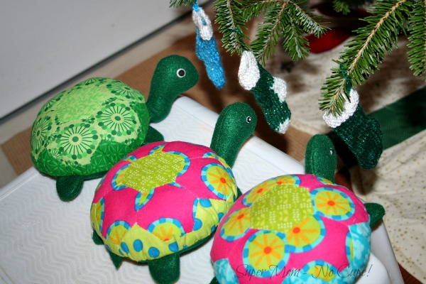 The Hexie Turtles hang their stockings