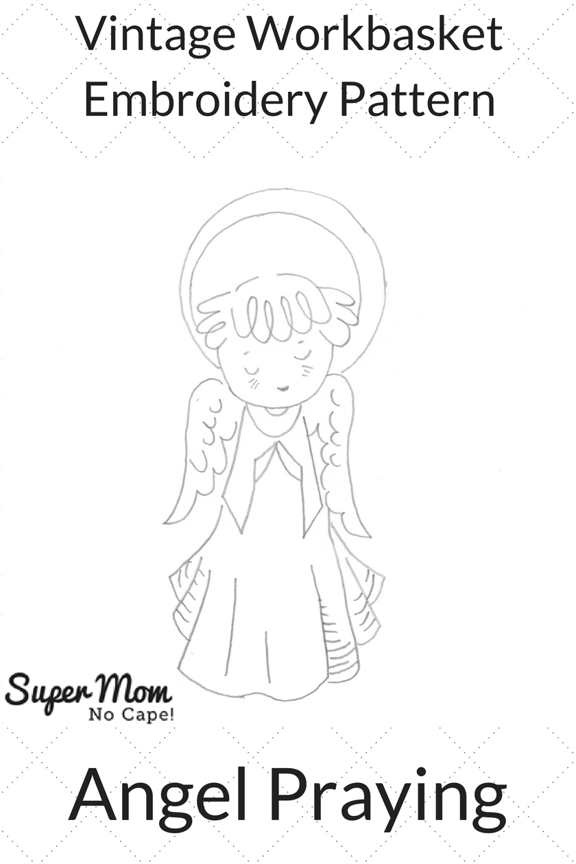 Vintage Workbasket Embroidery Pattern - Angel Praying