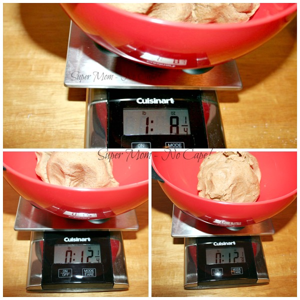 Weighing the cookie dough