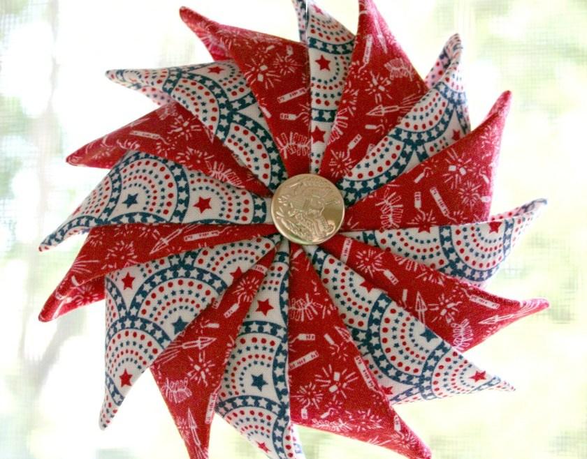 Fireworks & Stars Patriotic Prairie Point Star Ornament