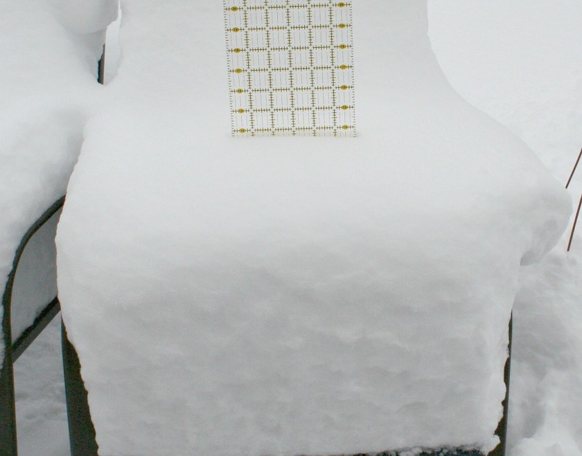 How Quilters Measure Snow