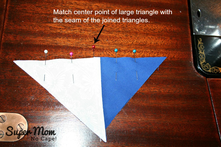 In Our Garden BOM - Matching center points of the triangles