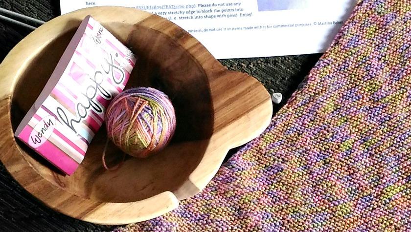 Magrathea Shawl - Yarn in Yarn Bowl