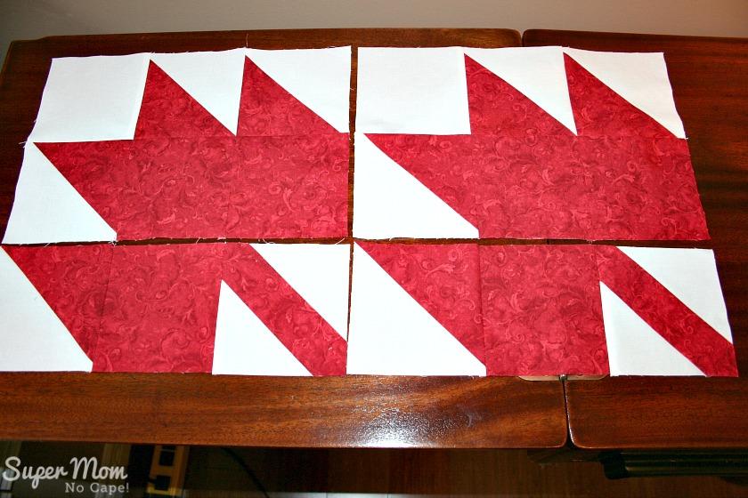 Maple Leaf Blocks - Step 10