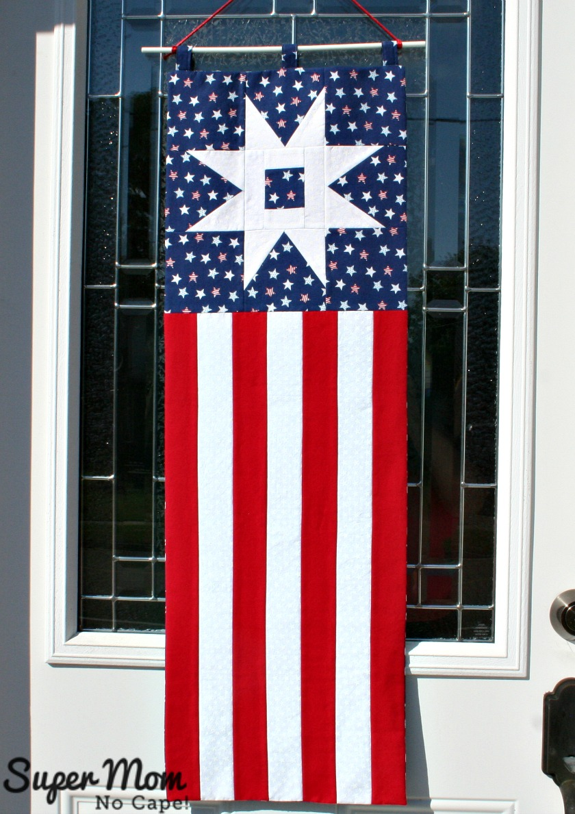 Patriotic Garden Path Banner Hung on Front Door