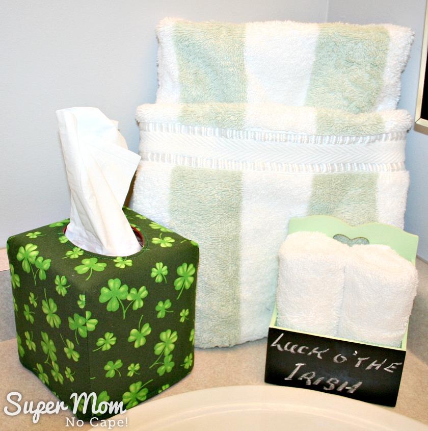 Tall square tissue box cover