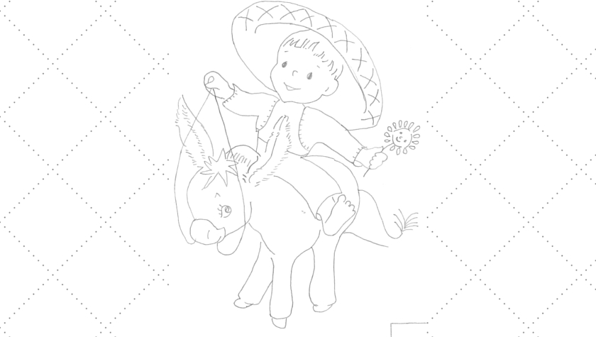 Vintage Workbasket - Embroidery Pattern - Boy Riding a Burro