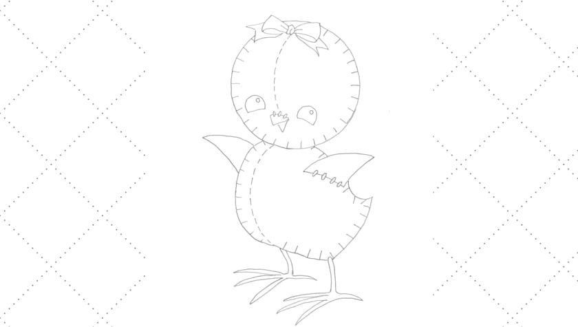Vintage Workbasket - Embroidery Pattern - Stuffed Toy Chick