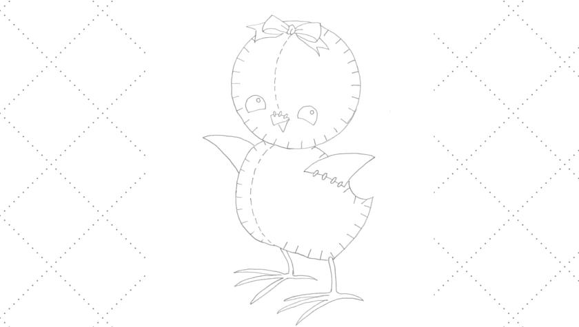 Vintage Workbasket - Embroidery Pattern - Stuffed Toy Chick