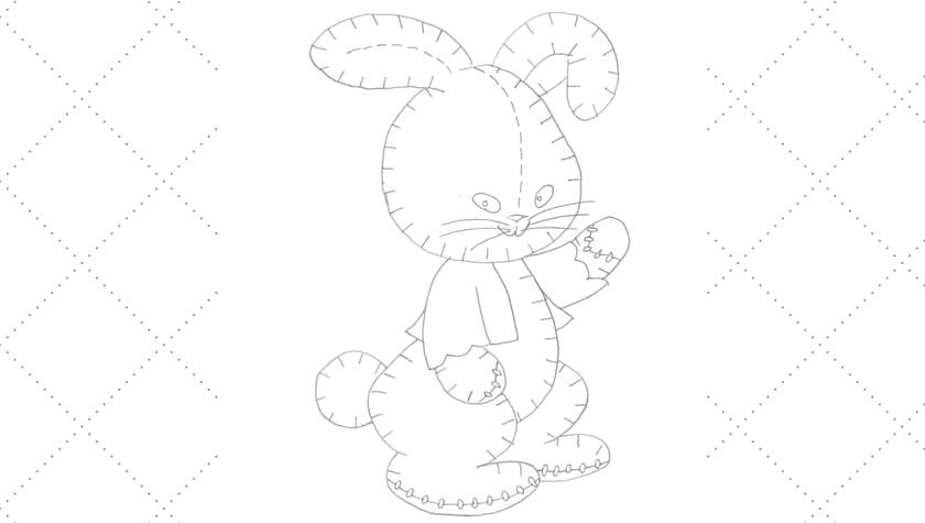 Vintage Workbasket - Embroidery Pattern - Stuffed Toy Rabbit